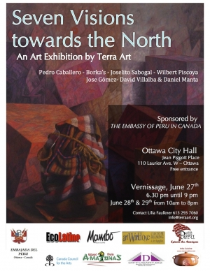"""Seven Visions Towards the North"" Peruvian Art Exhibit on June 27 - 29!"
